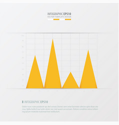 graph and infographic design yellow color vector image