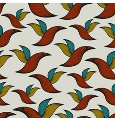 Seamless pattern with abstract birds vector image