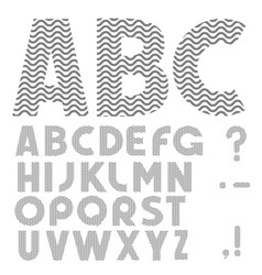 Simple Alphabet vector image vector image