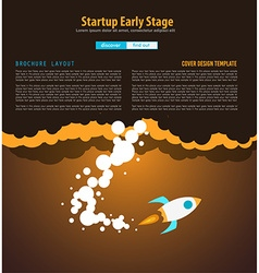 Startup Landing Webpage or Corporate Design Covers vector image vector image