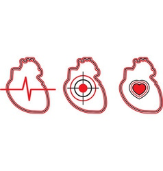 a set of three hearts can be used for the logo vector image vector image