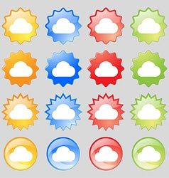 cloud icon sign Big set of 16 colorful modern vector image vector image