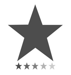 isolated gray star icons in set ranking mark vector image
