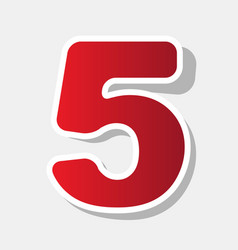 number 5 sign design template element new vector image vector image
