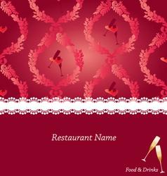 restaurant-menu-design vector image