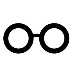 Retro glasses sunglasses black silhouettes eye vector
