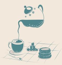 tea drinking vector image