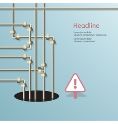 Blue background of metal pipes vector image