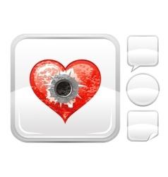 Happy Valentines day romance love heart Shot vector image vector image