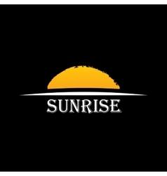 Icon Sun over horizon vector image