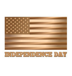independence day design gold usa flag vector image