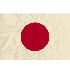 Japan paper flag vector image