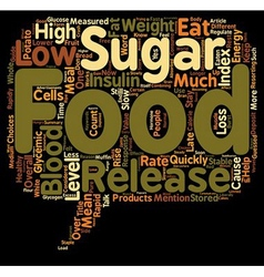 The Glycemic Index What You Should Know About It vector image vector image