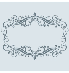 Vintage frame with leaves vector image