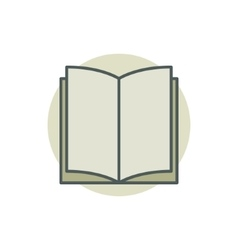 Creative colorful book icon vector image vector image