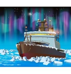 icebreaker at night vector image vector image