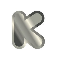 letter k steel font metal alphabet sign iron abc vector image