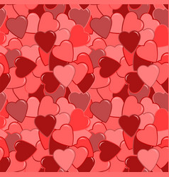 Seamless red heart pattern vector