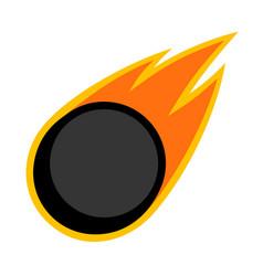 sport ball fire ice hockey vector image