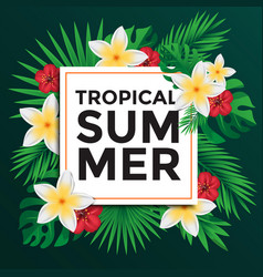 tropical poster 3 vector image vector image