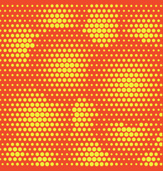 Abstract dotted halftone background yellow vector
