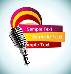 Abstract mic background vector
