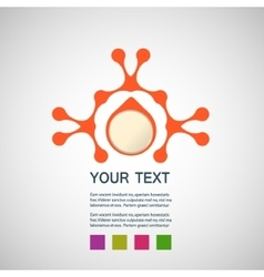 abstract orange man on a white background vector image
