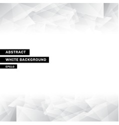 abstract template low poly trendy white vector image