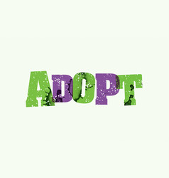 Adopt concept stamped word art vector