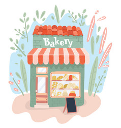 bakery shop on street bakery store outdoors vector image