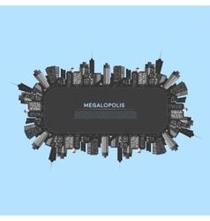 Banner modern city vector image