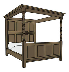 Baroque large bed vector
