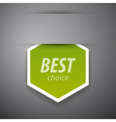 Best choice sticer vector