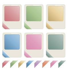 blank id icons vector image