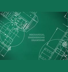 blueprints mechanics cover mechanical engineering vector image