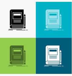 book business education notebook school icon over vector image