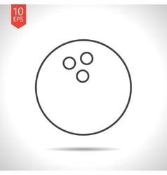 bowling ball icon vector image