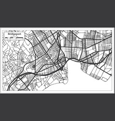 bridgeport usa city map in retro style outline map vector image