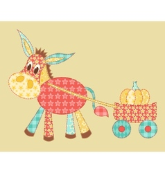 Burro patchwork vector