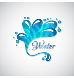 Business logo of blue water splatter web icon vector