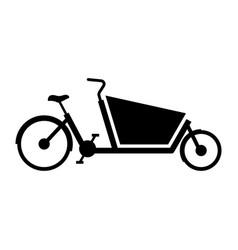 cargo bike vector image