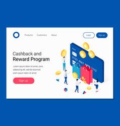 cashback rewards and loyalty program isometric vector image