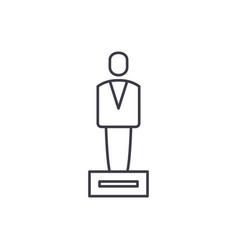 championship award line icon concept championship vector image