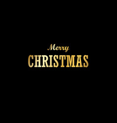 christmas tree card isolated black background vector image