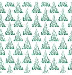 Christmas tree greeting seamless pattern winter vector