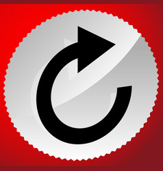 Circular arrow icon revolve rotate iteration vector