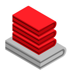 clothes stack icon isometric style vector image
