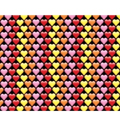 Colorful Hearts Background Pattern vector image