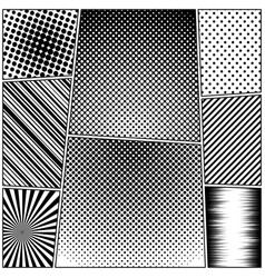 Comic book black and white composition vector