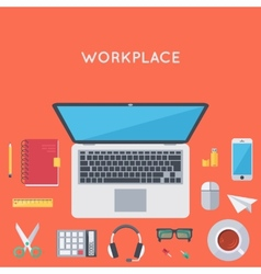 Contemporary workplace background vector image